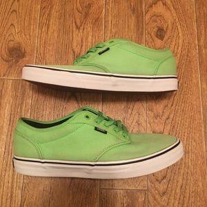 Vans Men's Green Skate Shoes Size 10